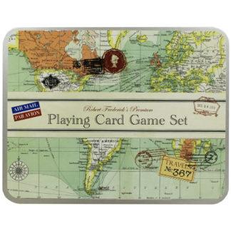 Product shot Vintage Map Premium Playing Card Game Set
