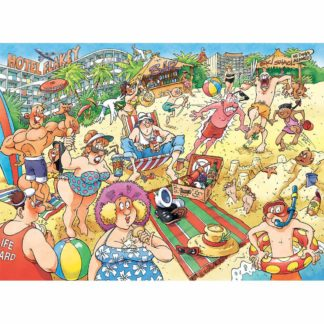 Product shot Wasgij A Very Merry Holiday Jigsaw Puzzle - 1000 Pieces