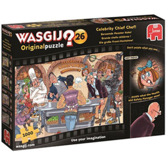 Product shot Wasgij Celebrity Chief Chef 1000 Piece Jigsaw Puzzle