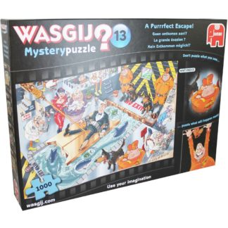 Product shot Wasgij Mystery 13 A Purrrfect Escape 1000 Piece Puzzle