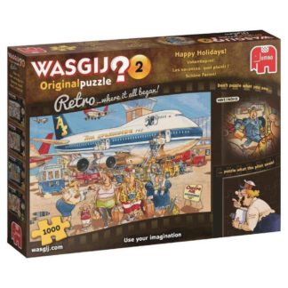 Product shot Wasgij Retro Original 2 Happy Holidays 1000 Piece Puzzle