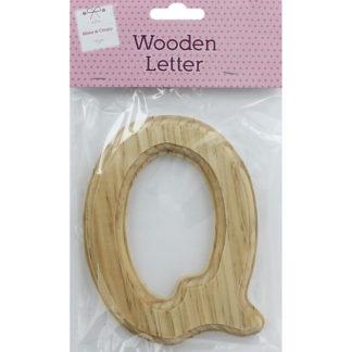 Product shot Wooden Letter Q