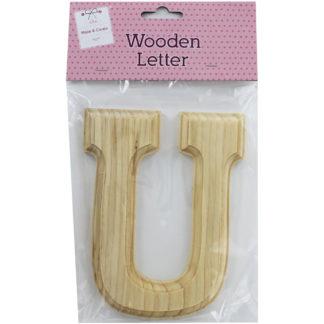 Product shot Wooden Letter U