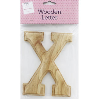 Product shot Wooden Letter X