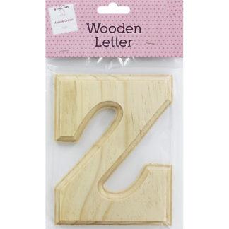 Product shot Wooden Letter Z