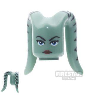 Product shot Arealight Mini Figure Heads - Ayl - Sand Green