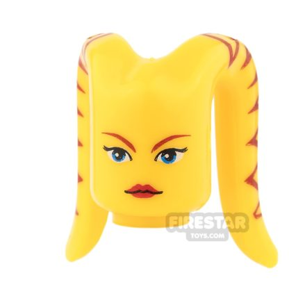 Product shot Arealight Mini Figure Heads - Ria - Yellow