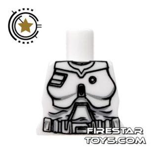 Product shot Arealight Mini Figure Torso - Battle Suit - White