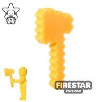 Product shot BrickTactical - Minecraft Axe - Neon Orange