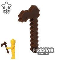 Product shot BrickTactical - Minecraft Hoe - Dark Brown