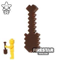 Product shot BrickTactical - Minecraft Shovel - Dark Brown