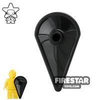 Product shot BrickWarriors - Kite Shield - Black