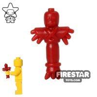 Product shot BrickWarriors - Voodoo Doll - Dark Red