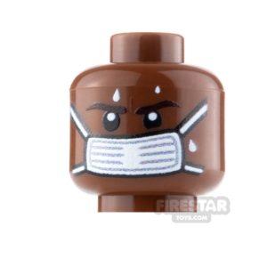 Product shot Custom Minifigure Heads Surgical Face Mask Male