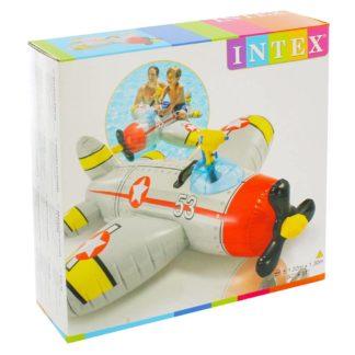 Product shot Intex Inflatable Ride On Water Gun Aeroplane Pool Float