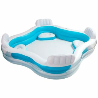 Product shot Intex Inflatable Swim Center Family 4 Seat Lounge Pool