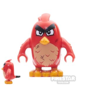 Product shot LEGO Angry Birds Mini Figure - Red - Narrow Eyes And Scratches