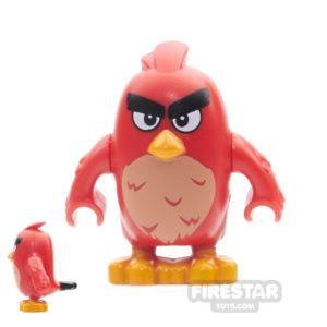 Product shot LEGO Angry Birds Mini Figure - Red - Rounded Eyes