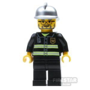 Product shot LEGO City Mini Figure – Fireman - Beard and Glasses