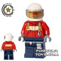 Product shot LEGO City Mini Figure - Fire Plane Pilot