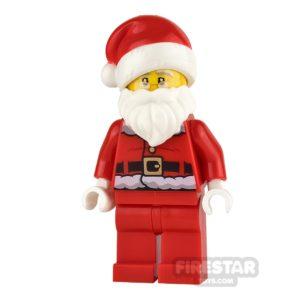 Product shot LEGO City Mini Figure - Santa - Fur Lined Jacket and Glasses