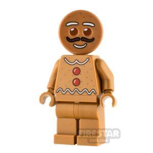 Product shot LEGO City Minifigure Gingerbread Man Moustache