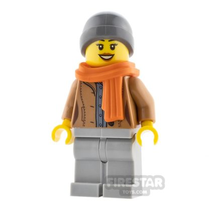 Product shot LEGO City Minifigure Jacket and Scarf