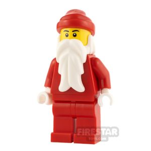 Product shot LEGO City Minifigure Santa White Hands