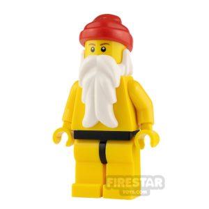 Product shot LEGO City Minifigure Santa Yellow Legs