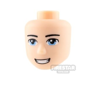 Product shot LEGO Friends Minifigure Heads Blue Eyes and Smile
