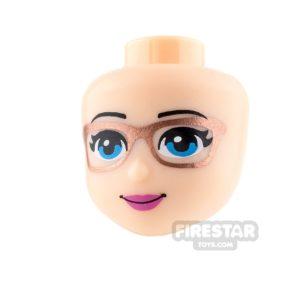 Product shot LEGO Friends Mini Figure Heads - Pink Lips and Glasses