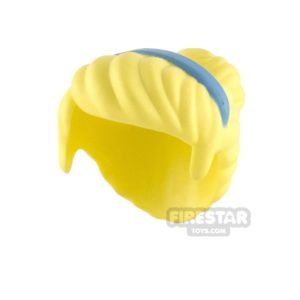 Product shot LEGO Hair - Top Bun with Hairband - Bright Light Yellow