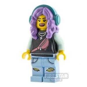Product shot LEGO Hidden Side Minifigure Parker L. Jackson Headphones