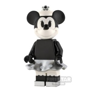 Product shot LEGO Ideas Minnie Mouse Grayscale