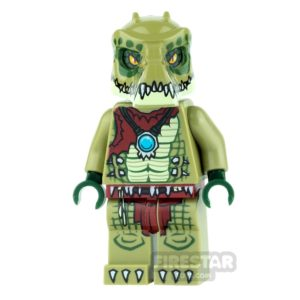 Product shot LEGO Legends of Chima Mini Figure - Crawley - Flat Silver Armour