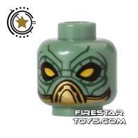 Product shot LEGO Mini Figure Heads - Alien - Yellow Eyes
