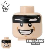 Product shot LEGO Mini Figure Heads - Batman - Smile / Scared