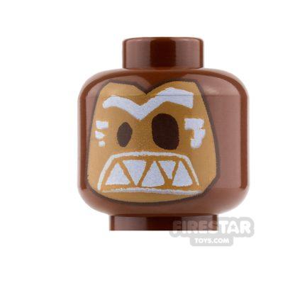 Product shot LEGO Mini Figure Heads - Tribal Mask - Kakamora