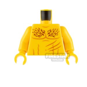Product shot LEGO Minifigure Torso Bare Chest with Scratches