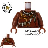 Product shot LEGO Mini Figure Torso - Cannibal - Bone Necklace