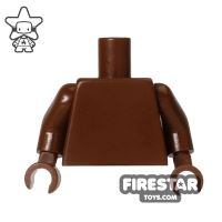 Product shot LEGO Mini Figure Torso - Plain Brown