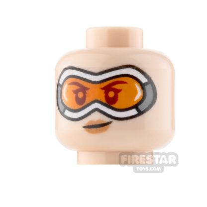 Product shot LEGO Minifigure Heads Goggles with Smile and Smirk