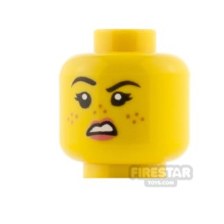 Product shot LEGO Minifigure Heads Smile With Freckles