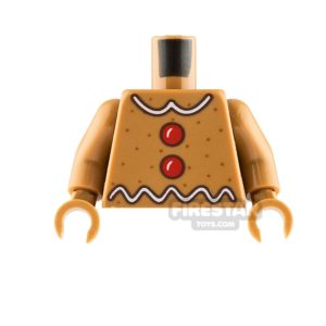 Product shot LEGO Minifigure Torso Gingerbread