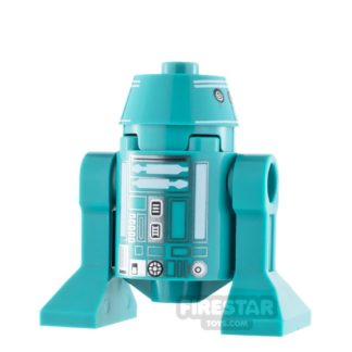 Product shot LEGO Star Wars Minifigure Astromech Droid Dark Turquoise