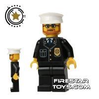Product shot Lego City Mini Figure – Police - Brown Beard