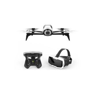 ParrotBebop 2 Drone FPV Adventurer Pack with Skycontroller 2 and Cockpitglasses Headset - White