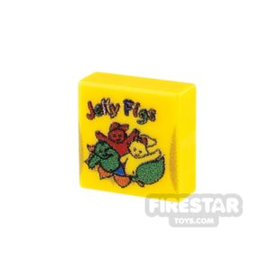 Product shot Printed Tile 1x1 - Jelly Babies