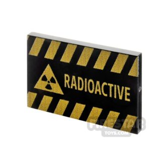 Product shot Printed Tile 2x3 Radioactive Sign