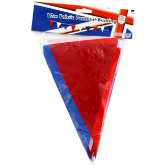 Product shot Red White And Blue Fabric Bunting - 12M